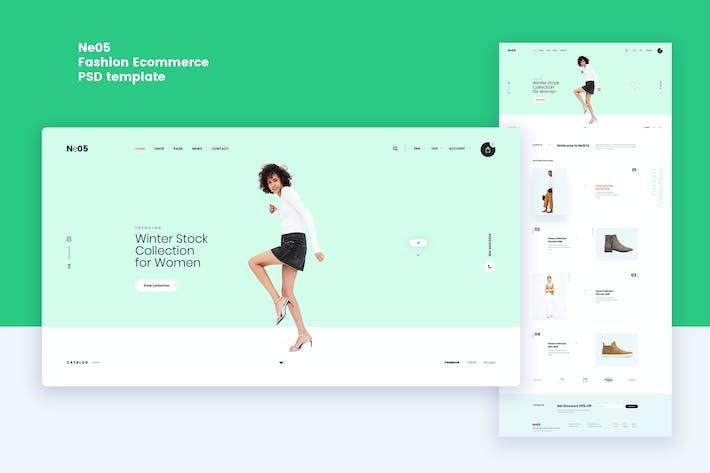 Thumbnail for Ne05 - Fashion Ecommerce PSD template