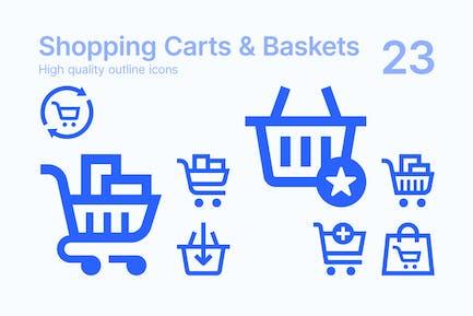 Shopping Carts & Baskets Icons