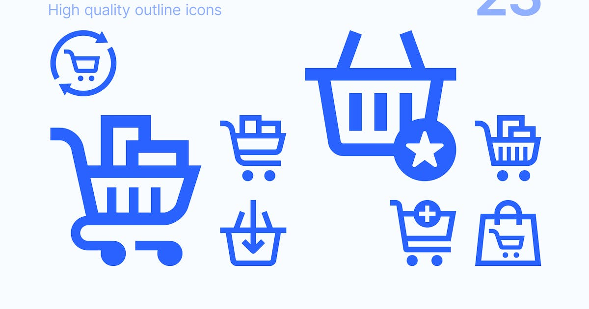 Download Shopping Carts & Baskets Icons by polshindanil