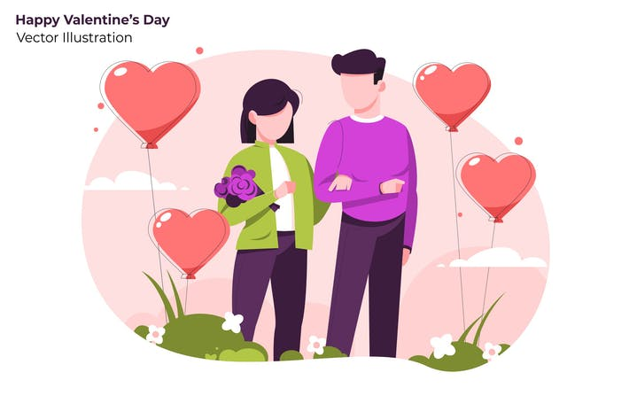 Thumbnail for Happy Valentine's - Vector Illustration