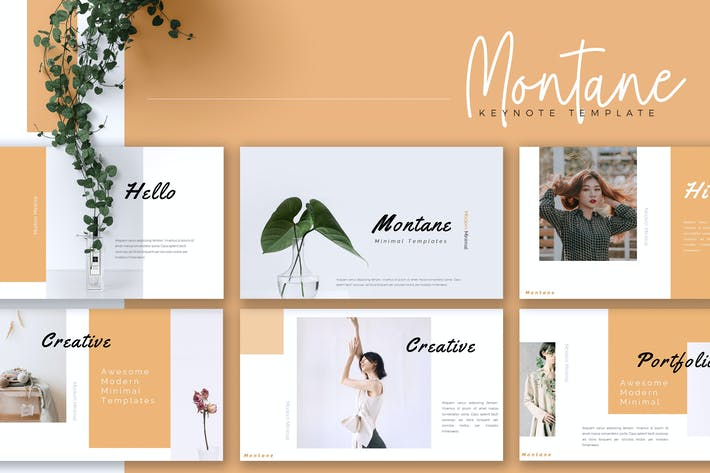 MONTANE - Creative Keynote Template