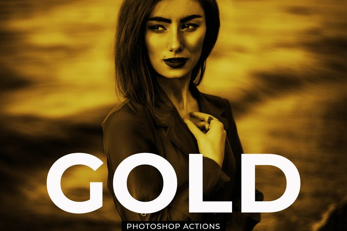 Thumbnail for Gold Effect Photoshop Actions