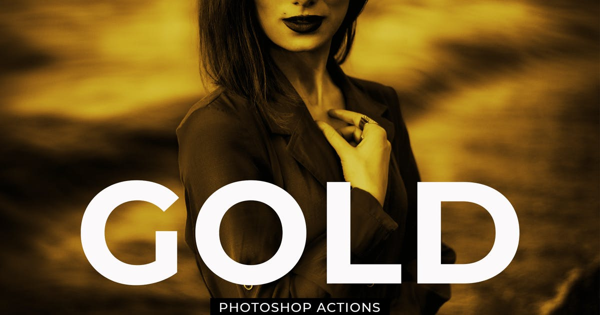 Download Gold Effect Photoshop Actions by creativetacos