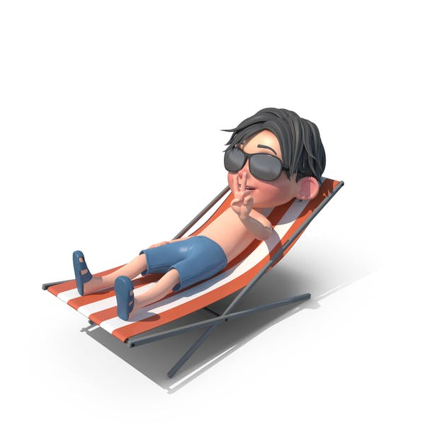 Thumbnail for Cartoon Boy Jack Sunbathing