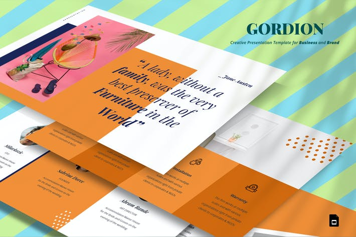 Thumbnail for Gordion Google Slide Template