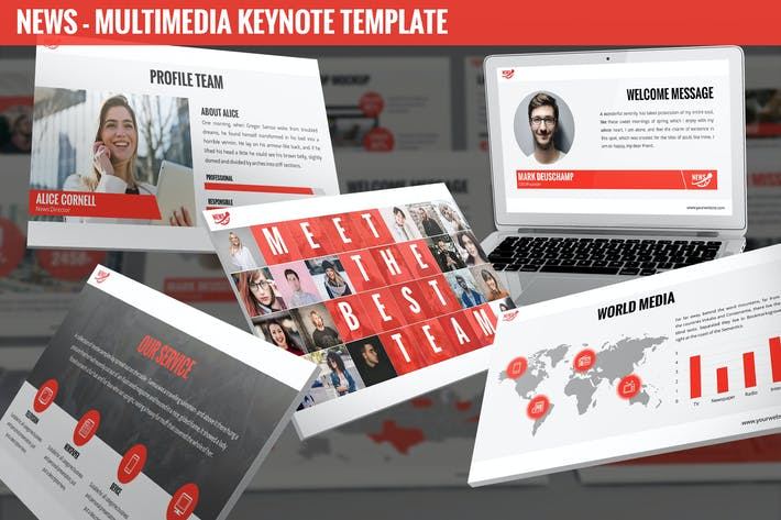 Thumbnail for News - Multimedia Keynote Template