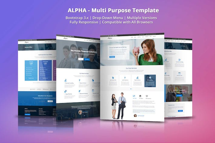 Cover Image For Alpha - Business Consulting and Financial Services