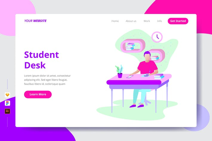Thumbnail for Student Desk - Landing Page