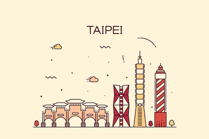 Thumbnail for Taipei skyline, Taiwan