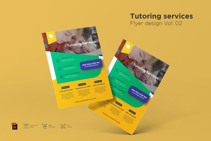 Tutoring Services Flyer Design Vol. 02