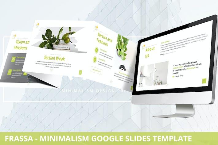 Thumbnail for Frassa - Minimalism Google Slides Template