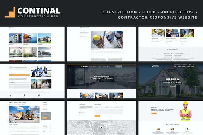 Thumbnail for CONTINAL - Construction Responsive Template