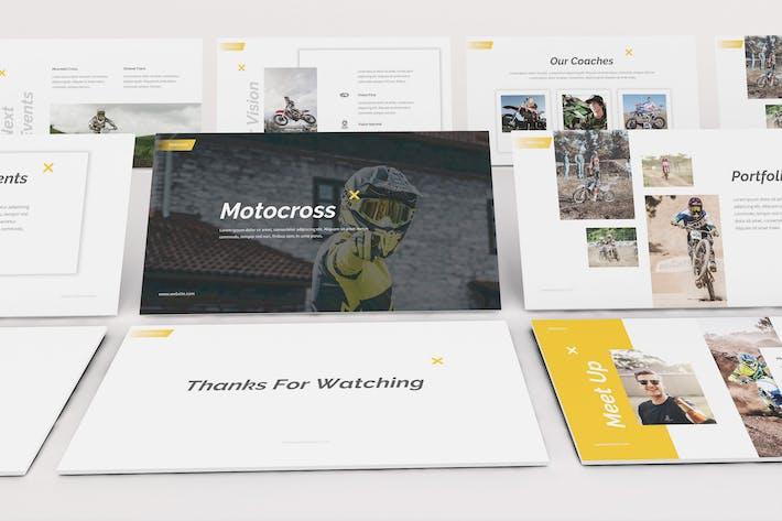 Thumbnail for Motocross Keynote Template