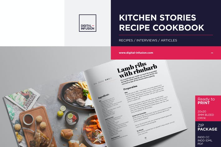 Cover Image For KITCHEN STORIES - Recipe Cookbook