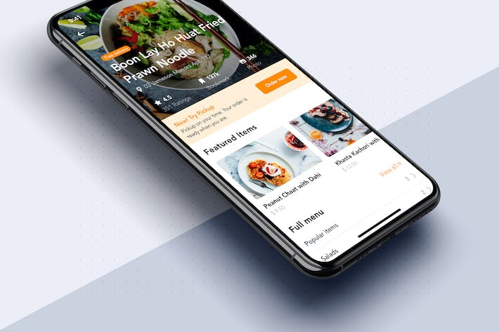 Thumbnail for Restaurant details mobile app template