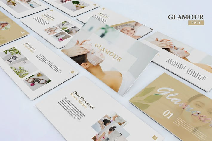 Thumbnail for Glamour - Шаблон Powerpoint