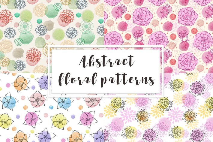 Thumbnail for Abstract Floral Seamless Pattern