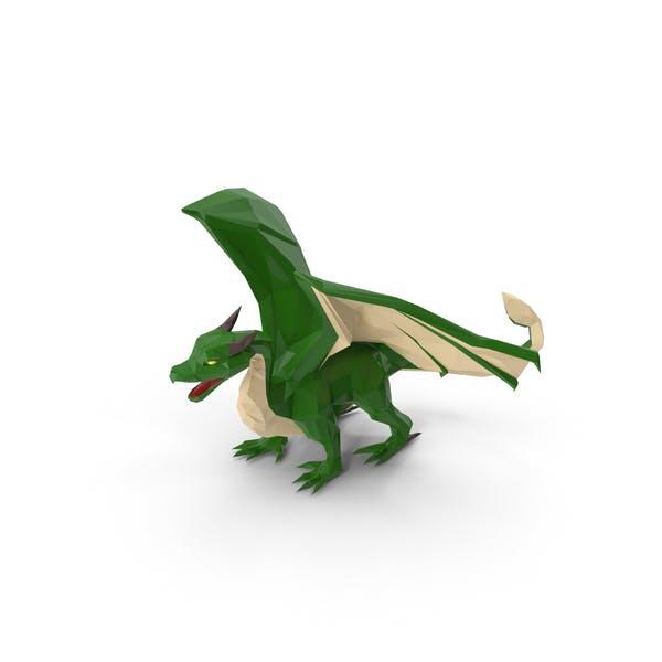 Low Poly Green Dragon