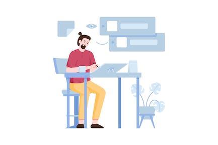 Layer Flat Illustration
