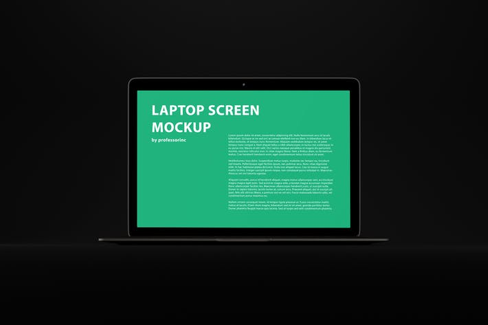 Thumbnail for Black MacBook Air Mockup