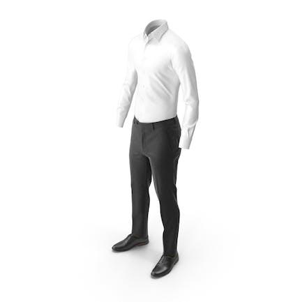 Herren Hosen Shirt Schuhe Braun