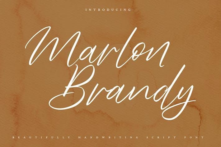 Thumbnail for Marlon Brendy Handwriting Script Font
