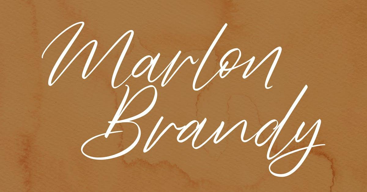 Download Marlon Brendy Handwriting Script Font by Fannanstudio