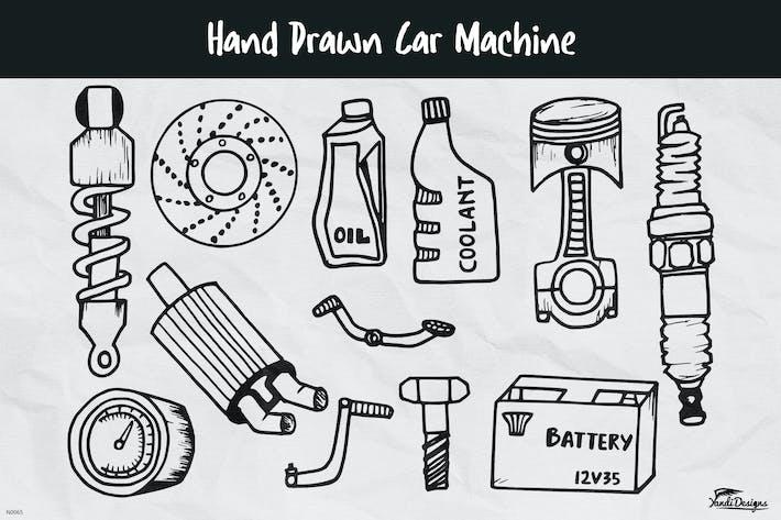 Thumbnail for Handgezeichnet Auto Maschine