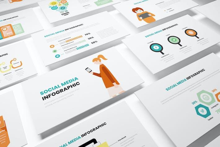 Thumbnail for Социальные медиа Инфографический Шаблон Powerpoint