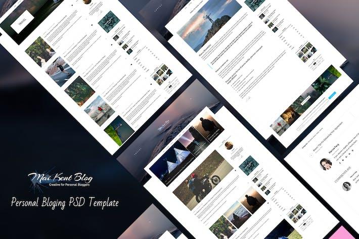 Thumbnail for Maikent - Personal Bloging PSD Template