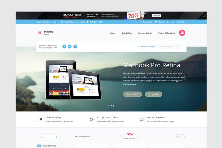 Thumbnail for Planet Tech Store - Ecommerce Shopify Theme