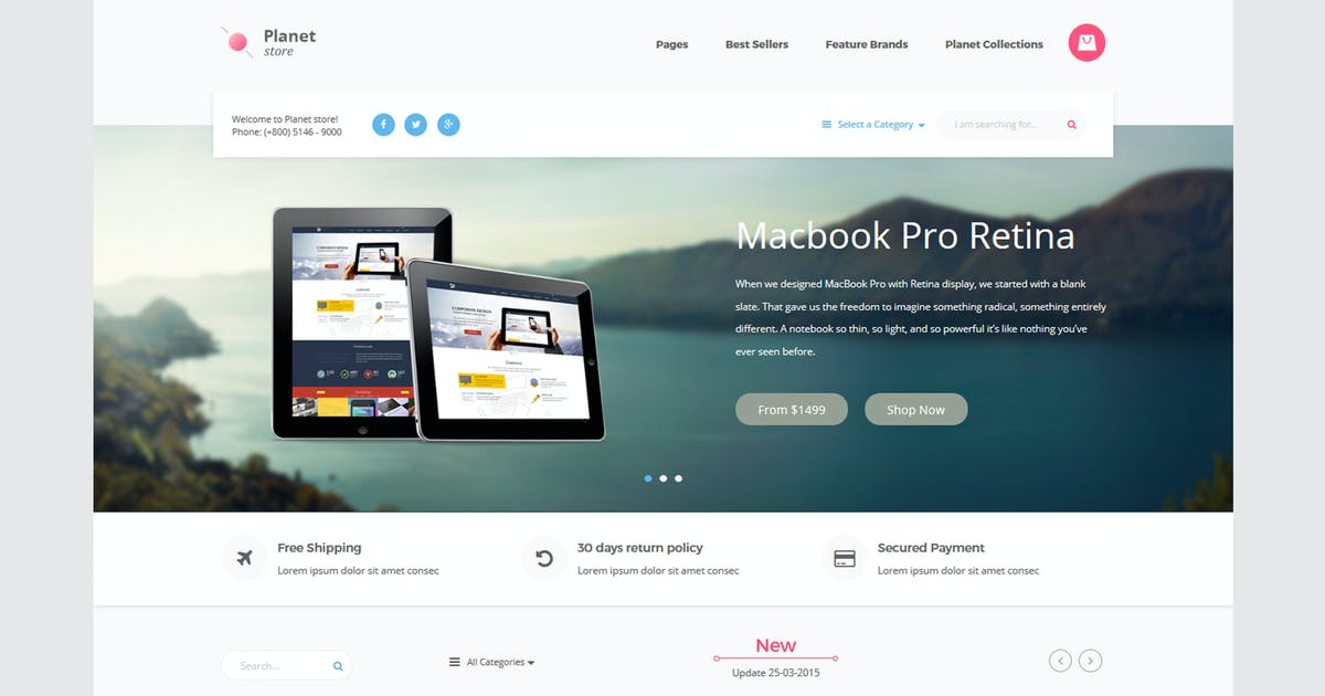 Planet Tech Store - Ecommerce Shopify Theme by xvelopers