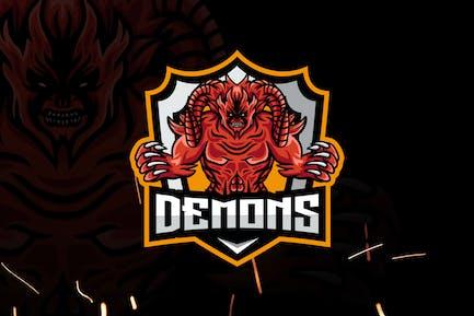 Demon Esports - Mascot & Esport Logo