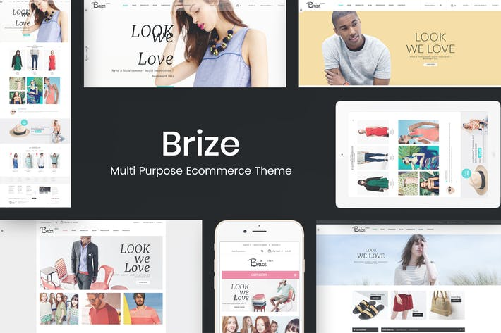 Thumbnail for Brize - Responsive WooCommerce Fashion Theme