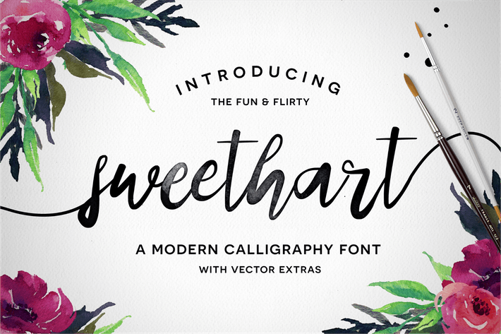 Cover Image For Sweethart Font