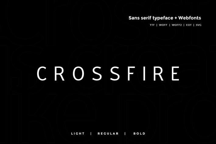 Thumbnail for Crossfire - Modern Typeface + WebFont