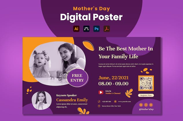 Mother's Day Event Digital Poster
