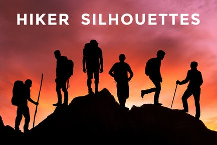 Travel Hiker Silhouettes