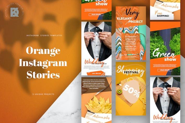 Thumbnail for Instagram Stories Orange Pack