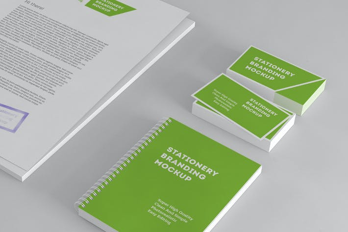 Thumbnail for Simple Stationery Branding Mockup
