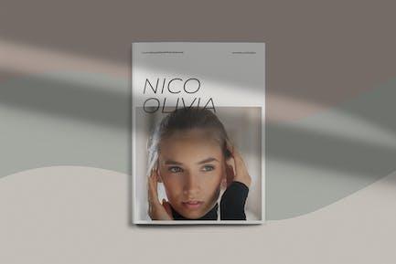 Nico Olivia - Feminine Brochure Magazine Template