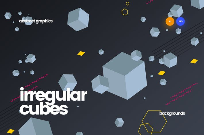 Thumbnail for Cubos irregulares y Fondos de Formas geométricas