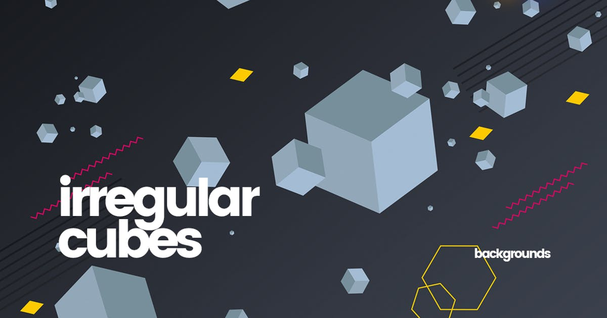 Download Irregular Cubes and Geometric Shapes Backgrounds by themefire