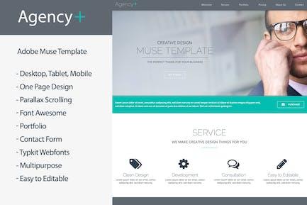 AgencyPlus - многоцелевой Шаблон муз на одну страницу