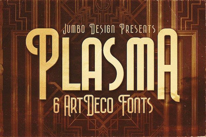 Thumbnail for Plasma - ArtDeco Style Font