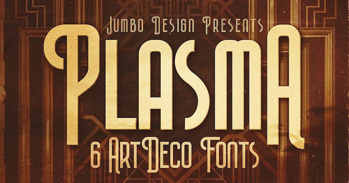 Download Plasma - ArtDeco Style Font by cruzine