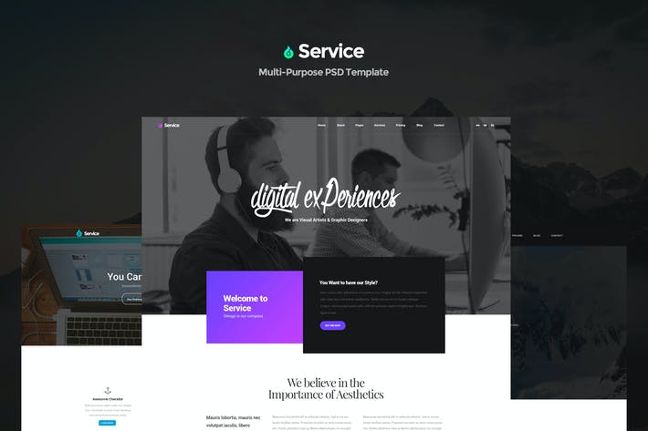 Cover Image For Service - Creative Multi-Purpose PSD Template