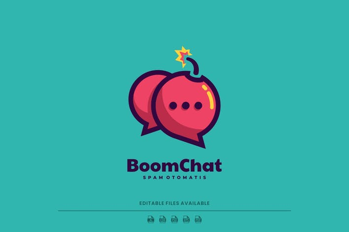 Boom Chat Simple Logo