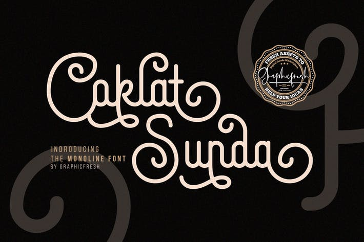 Thumbnail for Coklat Sunda - The Monoline Font