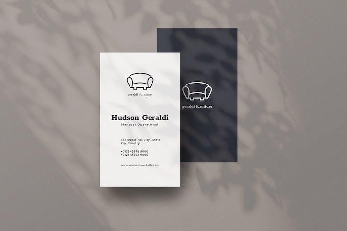 Vertical Business Card Furniture